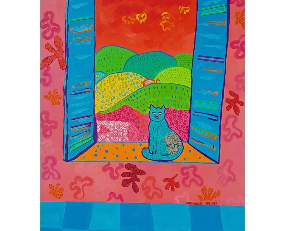 Fenêtre sur les vignes